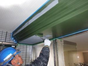 梁塗装 施工中